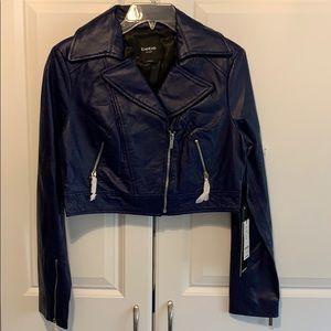 Bebe cropped moto jacket Medium
